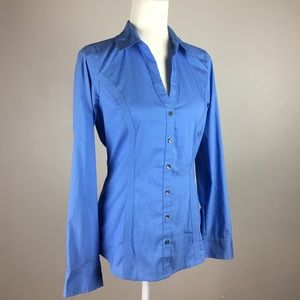 [Express] NWT The Essential Shirt Fitted Blue